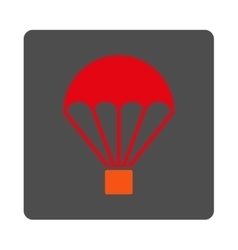 Parachute Rounded Square Button vector image vector image