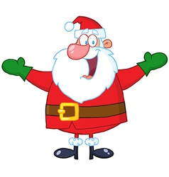 Santa Claus With Open Arms vector image