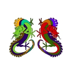 two Chinese dragons vector image
