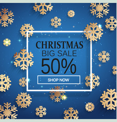 christmas sale card vector image vector image