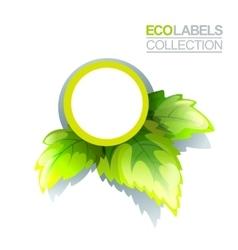 Green Eco Label vector image vector image