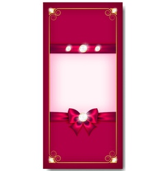 Greeting card pink vector image vector image