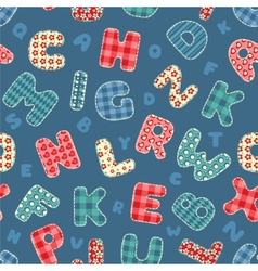 Seamless alphabet pattern vector image
