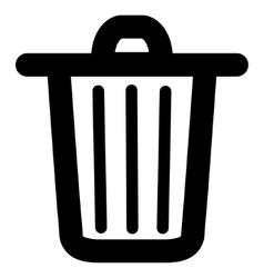Trash Can Stroke Icon vector image