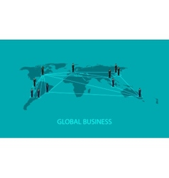 3d isometric of business people standing on the vector image
