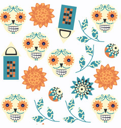 abstract sugar fantasy skulls seamless pattern it vector image