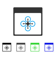 Air copter calendar page flat icon vector