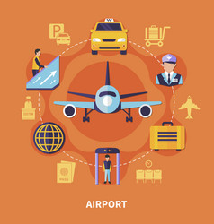 airport flat concept vector image