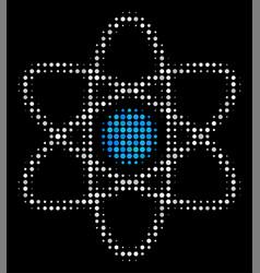 Atom halftone icon vector