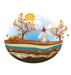 Autumn windmill island4 vector