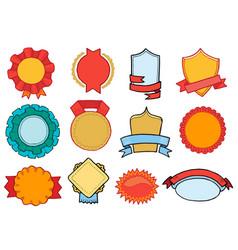 badge retro sticker or premium emblem sign vector image