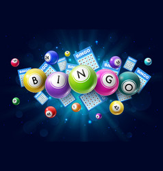 Bingo lotto game balls and lottery lucky numbers vector