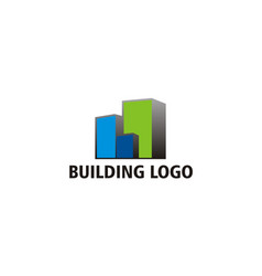 building construction city logo vector image
