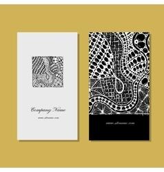 Business card zentangle ornament design vector