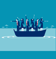 Business people pointing in different directions vector