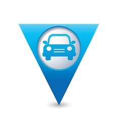 Car icon map pointer blue vector