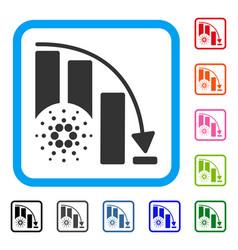 cardano epic fail chart framed icon vector image