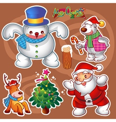 christmas elements a vector image