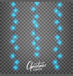 christmas lights realistic decoration design vector image
