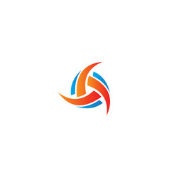 circle abstract curve company logo vector image