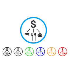 Consumption pattern rounded icon vector