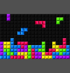 Creative tetris - video vector