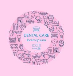 dental care banner vector image