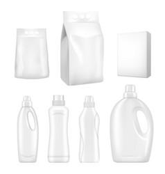 detergent packaging realistic mock up set vector image
