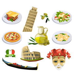 Different traditional elements and symbols of vector