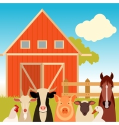 Farm banner with animals vector image