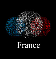 flag of france in the form of spheres on a black vector image