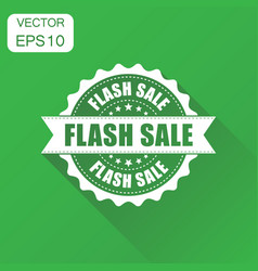 Flash sale rubber stamp icon business concept vector