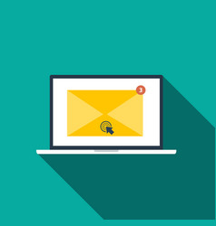 flat style icon of email marketing concept with vector image