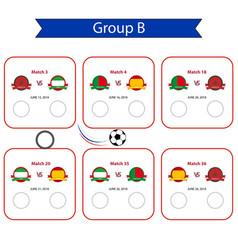football world cup 2018 scheduleinternational vector image