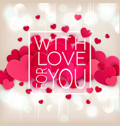 for valentines day hearts on a vector image