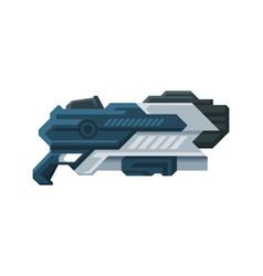 Futuristic space blaster fantastic gun handgun vector