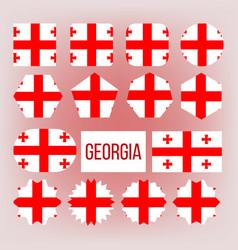 Georgia flag collection figure icons set vector