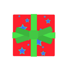 gift box present christmas ribbon surprise design vector image