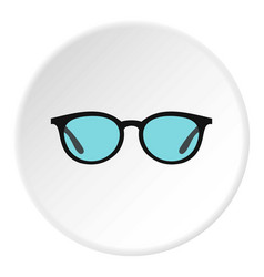 glasses icon circle vector image