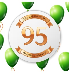 Golden number ninety five years anniversary vector