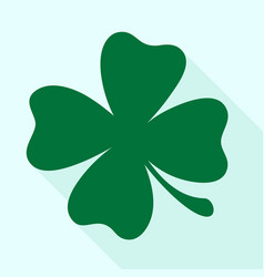 green shamrock clover icon vector image