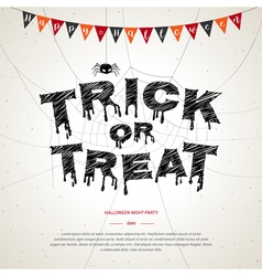 Happy Halloween trick or treat poster background vector