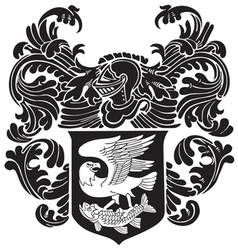 heraldic silhouette no23 vector image