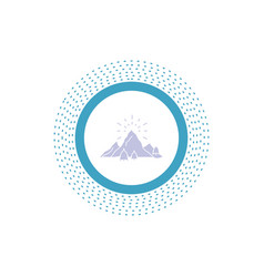 hill landscape nature mountain fireworks glyph vector image