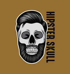 hipster skull mascot vector image