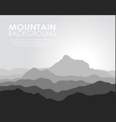 Huge mountain range vector