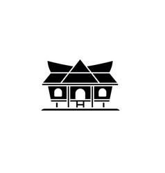 kajang leko silhouette jambi traditional house vector image