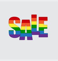 lgbt pride flag heart rainbow pride symbol sale vector image