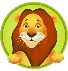 Lion head cartoon vector image