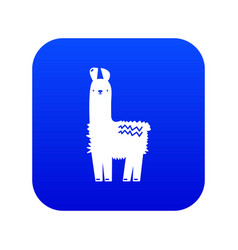 Llama icon blue vector